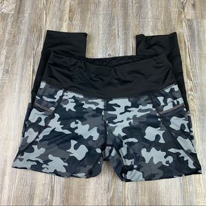 Active Life Black Blue Camouflage Athletic Pants